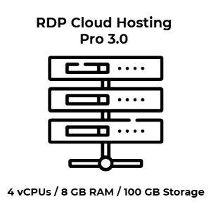 RDP Cloud Hosting Pro 3.0 - 4 vCPU Kerne / 8 GB RAM / 100...