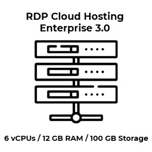 RDP Cloud Hosting Enterprise 3.0 - 6 vCPU Kerne / 12 GB...