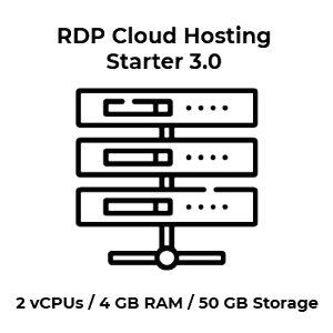 RDP Cloud Hosting Starter 3.0 - 2 vCPU Kerne / 4 GB RAM /...